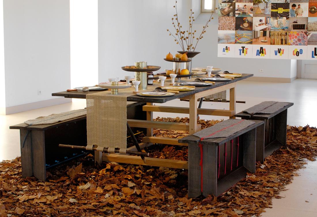 A Tavola ! design Stefania Di Petrillo, en résidence au Pôle Expérimental des Métiers d'Art de Nontron, dans le cadre des résidences de l'Art en Dordogne - photo B. Dupuy