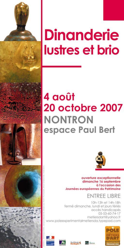 Affiche de l'Exposition Dinanderie Lustres et Brio