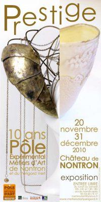 Affiche de Prestige, exposition des dix ans du Pôle des métiers d'art