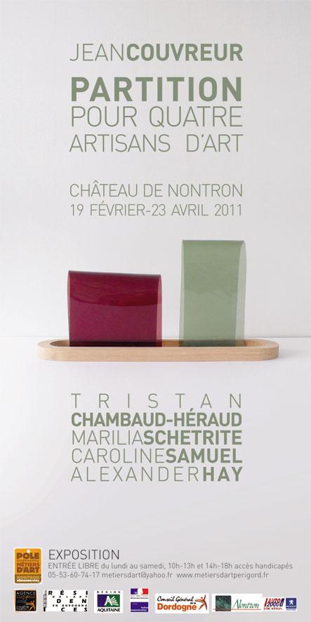 Affiche de l'Exposition Jean Couvreur Partition pour 4 artisans d'art