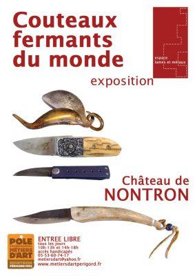 Affiche de l'exposition couteaux fermants du monde Nontron août 2011