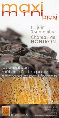 Affiche de l'Exposition Maxi-Mini à Nontron