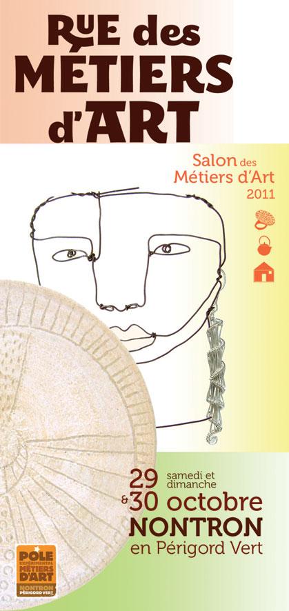 Rue des Métiers d'Art 2011 à Nontron, salon des métiers d'art, 33 créateurs