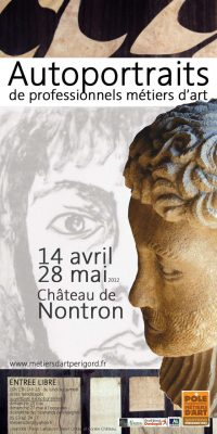 Affiche Exposition Autoportraits au Pôle des métiers d'art de Nontron