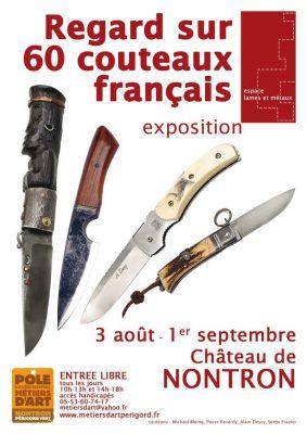 Affiche de l'exposition Regard sur 60 couteaux français