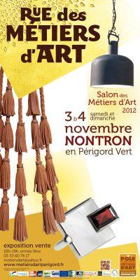 Affiche de Rue des métiers d'Art, Salon des métiers d'art Nontron 2012