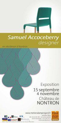 Affiche de amuel Accoceberry, designer - exposition de début de résidence
