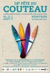 Affiche de la 18e fête du couteau à Nontron