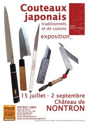 Affiche de l'Exposition couteaux traditionnels japonais et de cuisine
