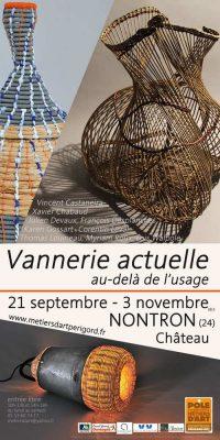 Affiche de Vannerie actuelle, au-delà de l'usage - exposition 21 septembre - 3 novembre 2013