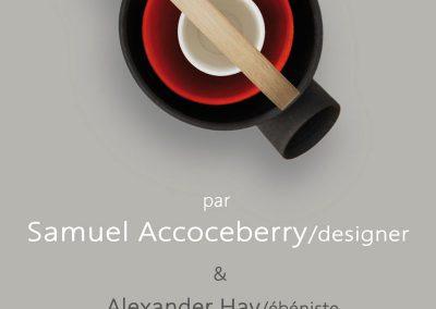Affiche de Intérieur/ Extérieur/ Passage, exposition de fin de résidence du designer Samuel Accoceberry