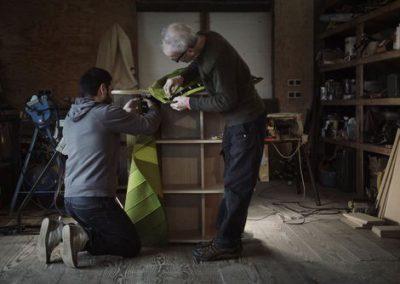 Samuel Accoceberry et Alexander Hay à l'atelier.