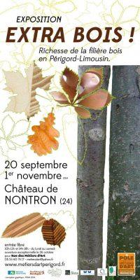 Affiche de EXTRA BOIS ! - Exposition du 20 septembre au 31 octobre 2014 - Nontron
