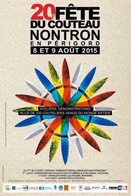 Affiche de la 20e fête du couteau à Nontron 2015