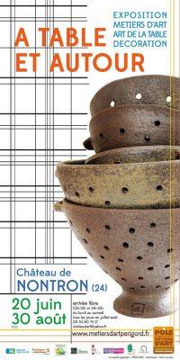 Affiche de A table et autour - exposition métiers d'art, art de la table, décoration