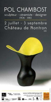 Affiche de l'exposition Pol Chambost céramiste designer
