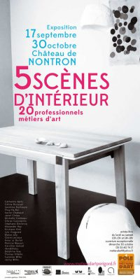 5 Scènes d'intérieur, 20 professionnels métiers d'art – exposition à Nontron, Dordogne