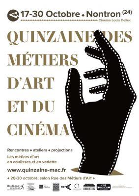 Affiche de la Quinzaine des Métiers d'Art et du Cinéma à Nontron
