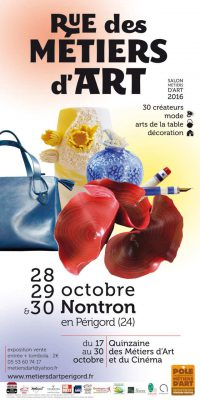 Affiche de Rue des Métiers d'Art - salon métiers d'art à Nontron - 28, 29 et 30 octobre 2016