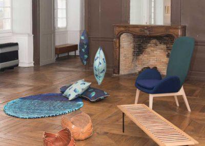 Eclisse : Panier-porte revue et Nuances : Table basse