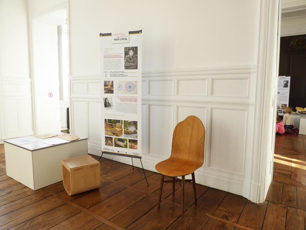 Exposition Création bois, étudiants et entreprises locales en Périgord-Limousin au château de Nontron