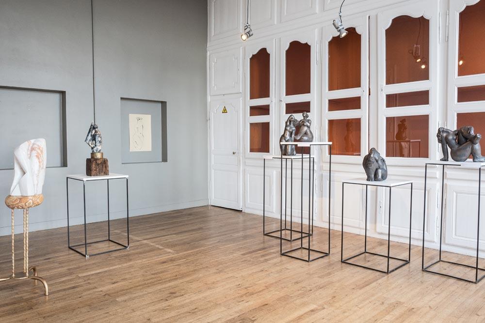 Michèle Raymond sculptrice et céramiste - Dani Io, sculptrice - photo JY Le Dorlot