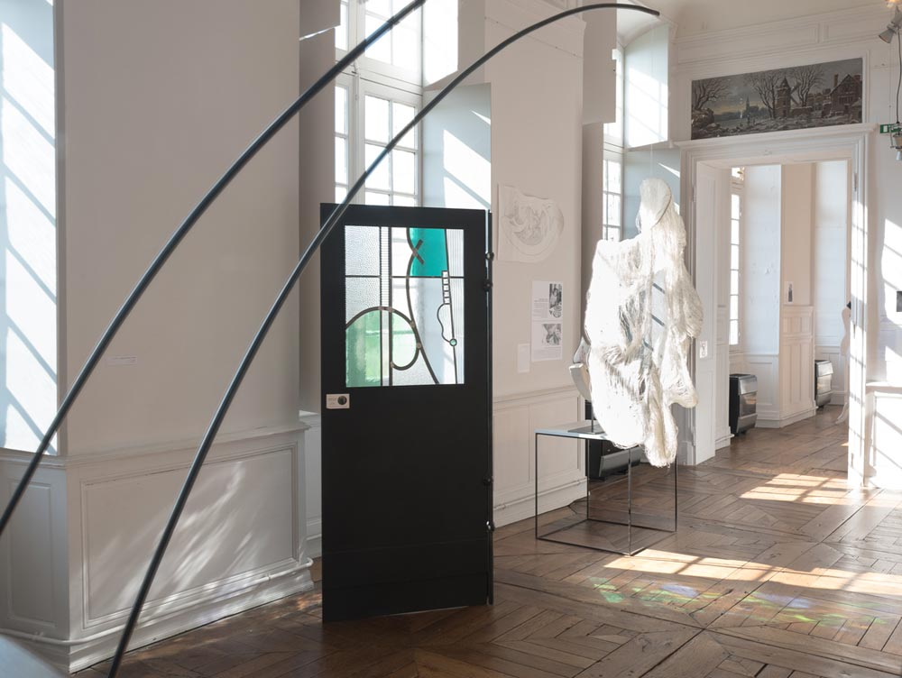 François Theallier-Riffaud, Atelier de vitrail St Joseph - Charlotte Thomas, licière - photo JY Le Dorlot
