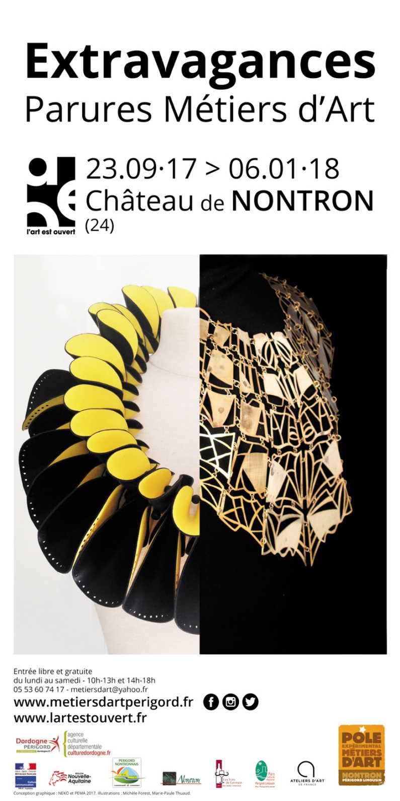 Exposition Extravagances, parures métiers d'art à Nontron