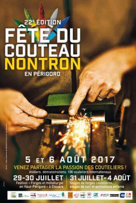 Affiche de la Fête du couteau 2017 à Nontron