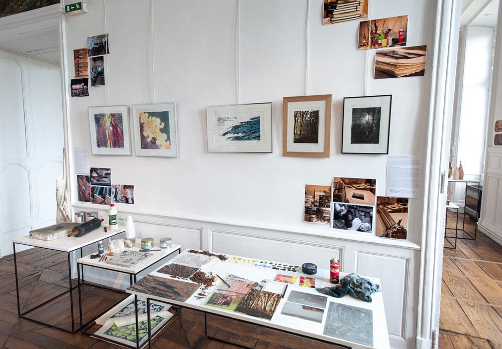 Janet Cintas - Atelier Pierre et Images, lithographie - Thomas Villette - Atelier Mataguerre, gravure - photo JY Le Dorlot