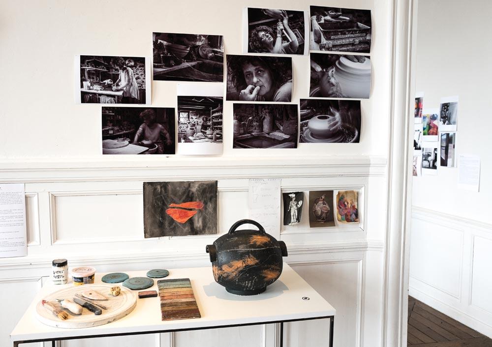 Kristiane Hink - Traces en terre, céramique - photo JY Le Dorlot