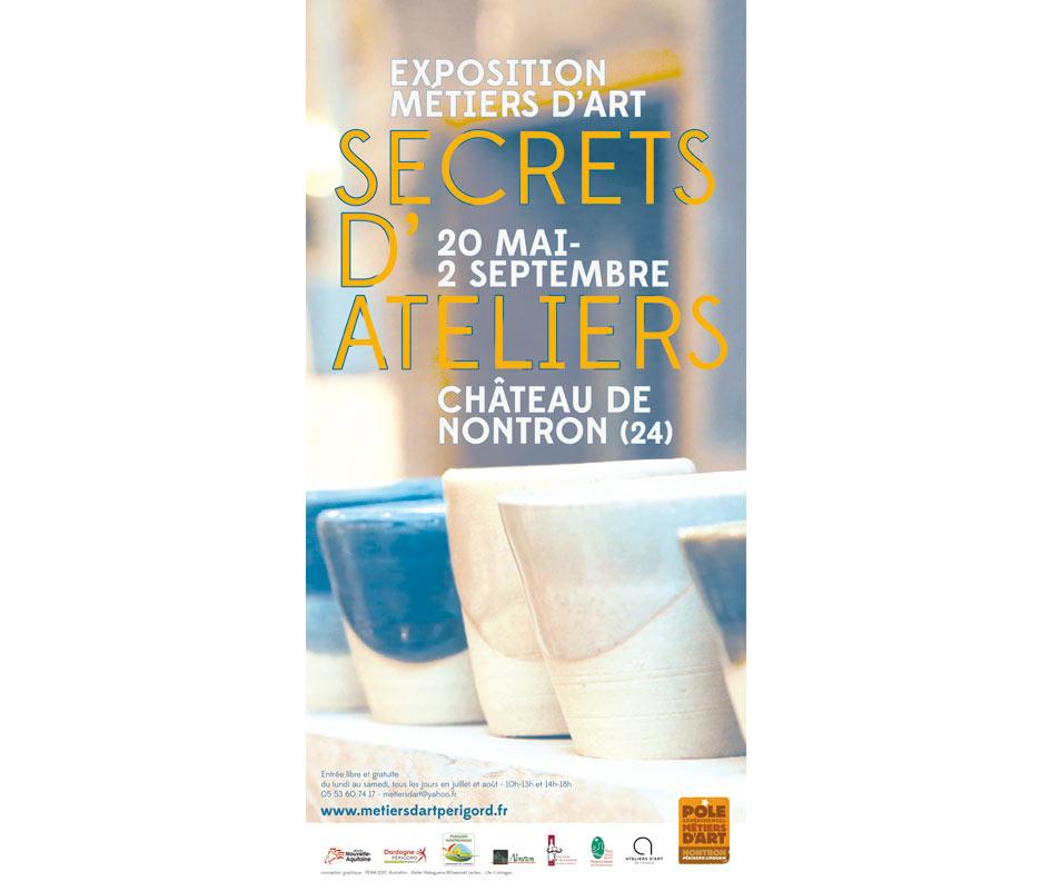 Exposition Secret d'Atelier au Château de Nontron, céramique: Claire Lecreux
