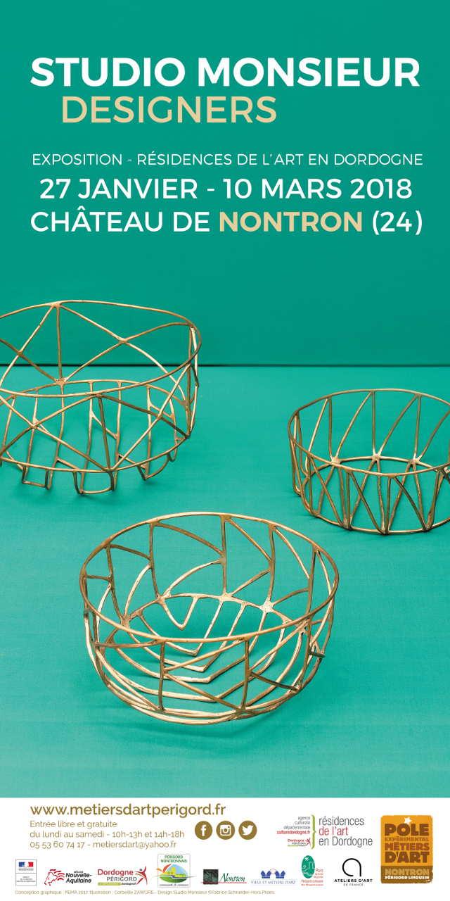 Studio Monsieur – designers, Exposition de début de résidence à Nontron