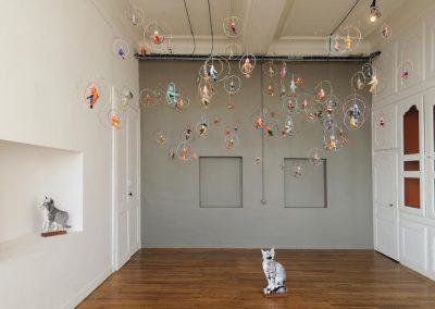 Anne LE DORLOT, Terre fil et papier, Chats et oiseaux
