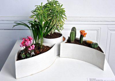 Céline BOCQUET, Le chant de la terre, céramique en porcelaine, poterie de jardin