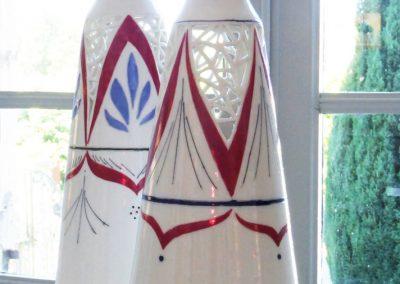 Céline BOCQUET, Le chant de la terre, céramique porcelaine, vase