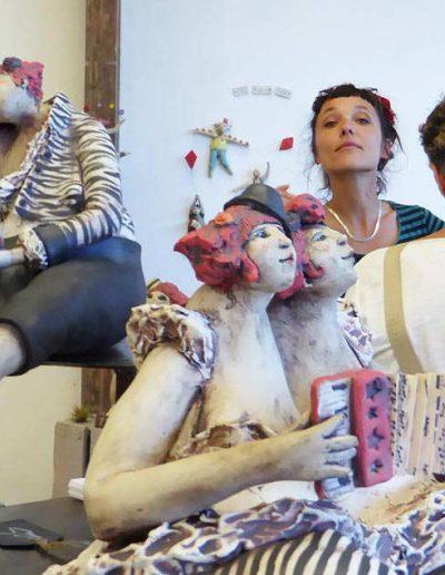 Claire Lepape céramique sculpture La P'tite terrienne