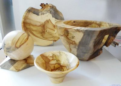 Coupelles réalisées par Gérard GUILLET, Tourneur sur bois