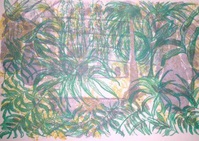 "janet Cintas Lithographie ""jardin"""