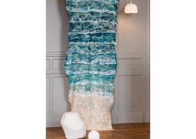Jenny WILLIS, Créatrice textile- exposition Scène d'intérieur - Nontron