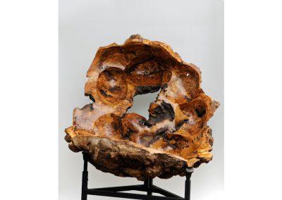 Sculpture monumentale réalisée en bois tourné par John Mitchell