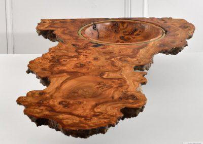 sculpture en bois tourné