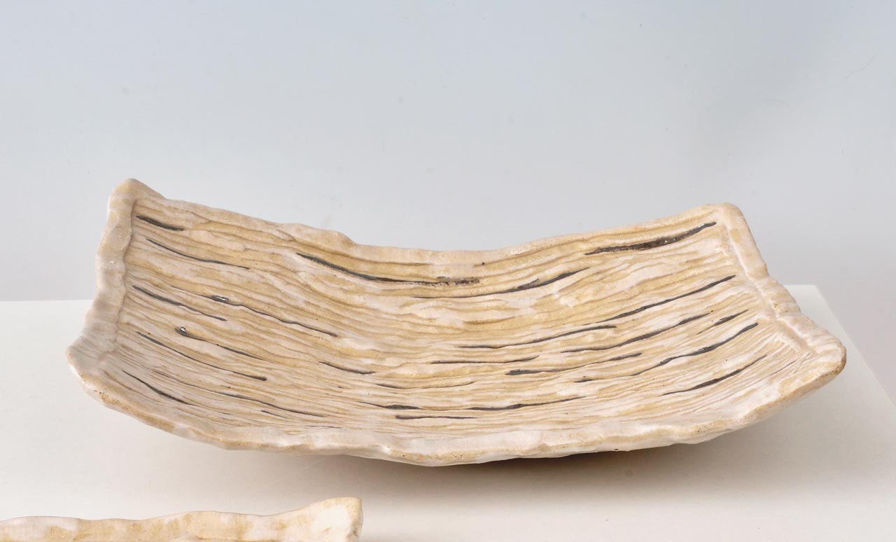 Plat en céramique réalisé par kristiane Hink
