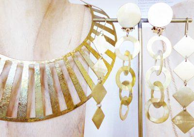 collier en laiton, création Marie-Paule THUAUD, Créatrice de bijoux