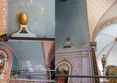 décor d'une église, création Sandrine RONGIER, Artelier Polychromies, Peintre en décor et émailleuse