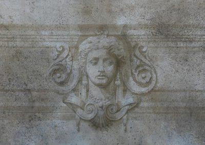 Sandrine RONGIER, Artelier Polychromies, Peintre en décor et émailleuse, décor grisaille