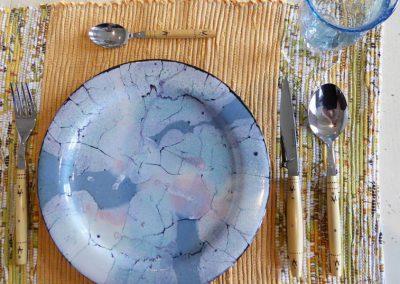 Serge COUSSERAN assiette en céramique et émail