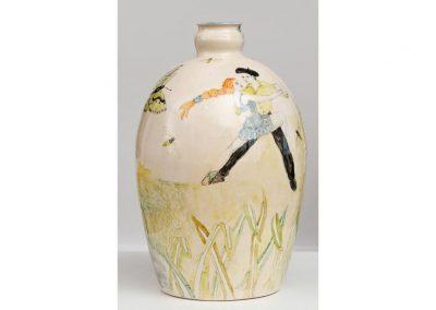 pot en faience décoré par Sue Wilks