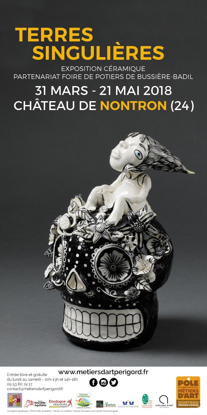 Exposition Terres singulières au Pôle des métiers d'art de Nontron