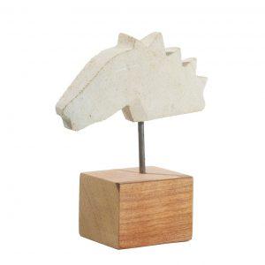 tête de cheval sculpté en calcaire